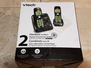 Vtech 2-Handset Cordless Phone System with Digital Answers Mach.