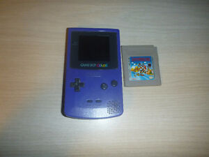 Gameboy colour System and Super Mario Land cart