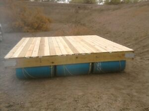 Floating docks or barges DYI