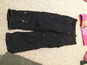 snow pants black youth large