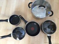 Pots and pans bundle. Mostly Tefal