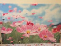 Wall big flower picture high quality canvas ( 118cm x 78cm)