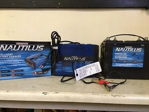 Deep cycle marine battery and charger