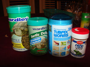 Turtle and frog  food