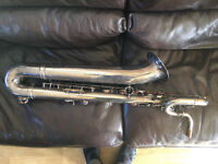 Selmer (Paris) Mk VI Baritone Saxophone Low A 1963; 5 digit 99,xxx; silver plated