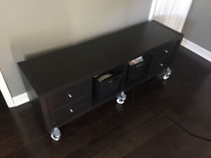 Modern styled wheeled chest of draws.