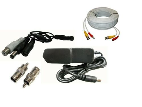 25ft, Complete Microphone Kit for CCTV Security System