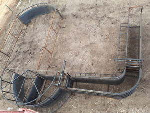 Custom cattle equipment made out if drill stem