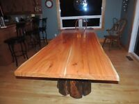 Hand crafted tables by Deep Forest furniture
