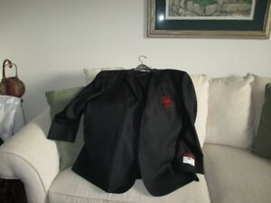 Brand New Men's Suit Price tag on Black 100% wool