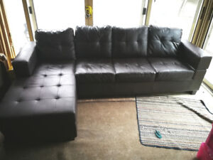 Beautiful Bonded leather couch