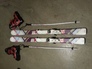 Skis bottes batons pour fille Rossignol
