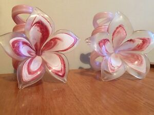 Glass Flower Candle Holders