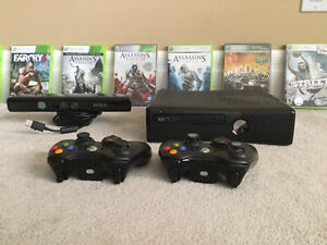 Xbox 360 with Kinect and 14 games
