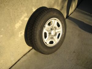 Dunlop Tires mounted on rims