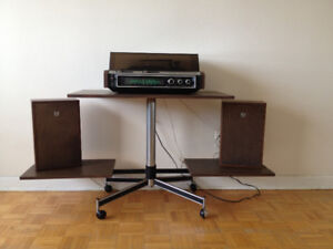 Meuble /Table Stereo *** Vintage *** Stereo Table