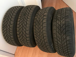 4 Goodyear Ultra Grip winter tires + 15 in. steelies, $250 OBO