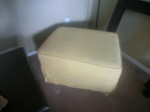 LARGE SOFT YELLOW HASSOCK Now $30.00