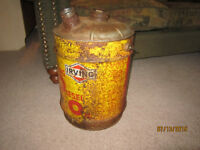 Antique 1960's IRVING Diesel Oil Can