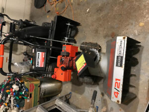 Snow blower for sale just fixed and maintained. Runs great!