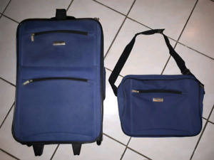 2 pc. Suitcase and Carry On Bag