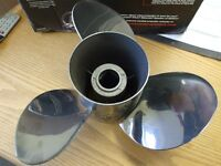 Brand New Mercury Stainless Steel VENGEANCE 17 Pitch Prop