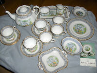 Royal Albert china, Silver Birch set of 21 pieces,mint condition