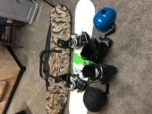 Snow board and burton gear