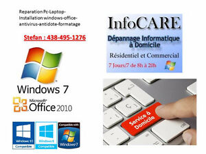 Reparation installation windows office - Service a domicile