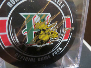 Halifax Mooseheads-Max Fortier Autographed Puck