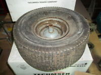 USED RIM AND TIRES from Lawn tractor  #0.00 EACH