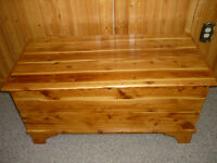 PINE CHEST .CAN BE USED FOR DEACON BENCH .COFFEE TABLE