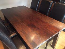 Solid dark wood Habufa dining table