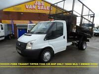 2012 12 FORD TRANSIT 350 MWB TIPPER + CAGED BODY 1 OWNER FROM NEW SUPER LOW MLS