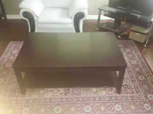 Coffee table + two end tables