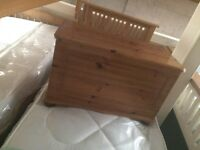 Pine or white blanket box chests