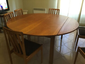Solid teak 90 inch table