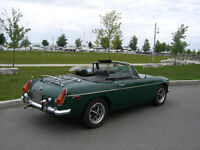 Classic MGB with chrome bumpers
