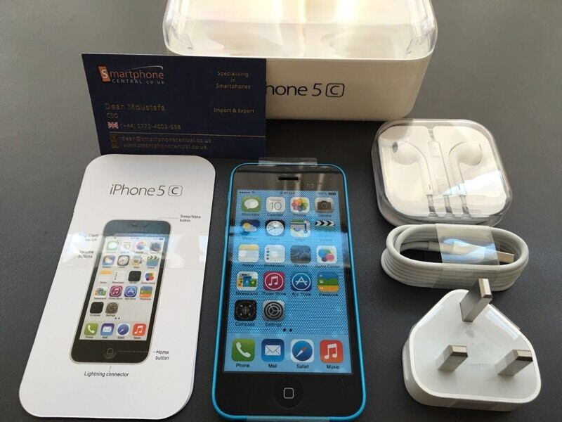 Brand new unlocked sim free iPhone 5C sealed box with full new accessories uk