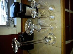 4 crystal candle holders