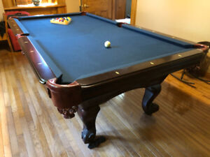 Slate pool table with accessories