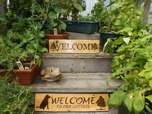 HANDMADE WOODBURNED WELCOME SIGN- GREAT FOR HOME OR COTTAGE Peterborough Peterborough Area image 3