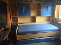 Bedroom pull out bed unit