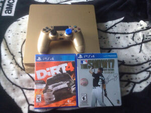 Ps4 Slim Gold, 1 TB , 1 Manette, Avec Dirt 4