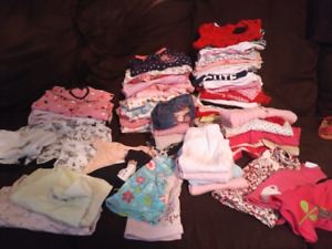 Infant girls clothing lot - size 0-3 month