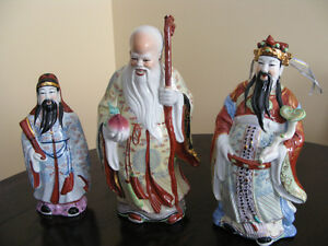 Chinese Star Gods. Porcelain figurines