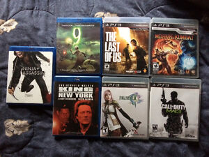 PS3 Games and Blueray DVDs
