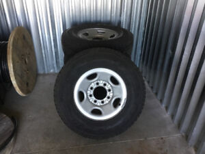 Winter Tires on factory 8 bolt 2500 series GM rims