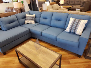 Kirwin Blue Sectional