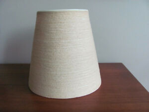 Vtg MCM BOSTLUND FIBERGLASS JUTE LAMP SHADE for LOTTE TABLE LAMP